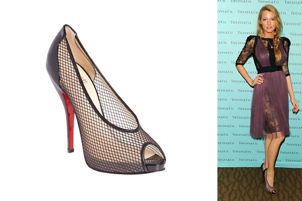3c6f563a392 ... closeout blake lively in fetilo mesh pumps celebrities love christian  louboutin shoes stylebistro dc4f3 33591