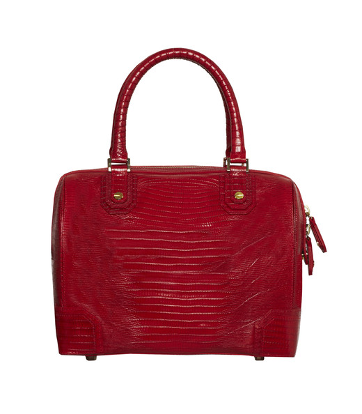 Olivia Bag in Red Croc Print