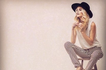 Poppy Delevingne is Charming in Stripes