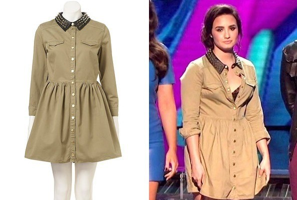 Demi Lovato's Topshop Dress on 'The X Factor'