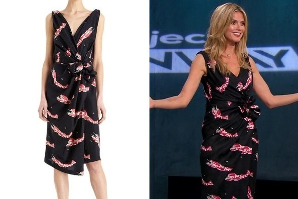 Heidi Klum's Lobster-Print Wrap Dress on 'Project Runway'