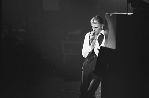 David Bowie at Maple Leaf Gardens in Toronto in 1976