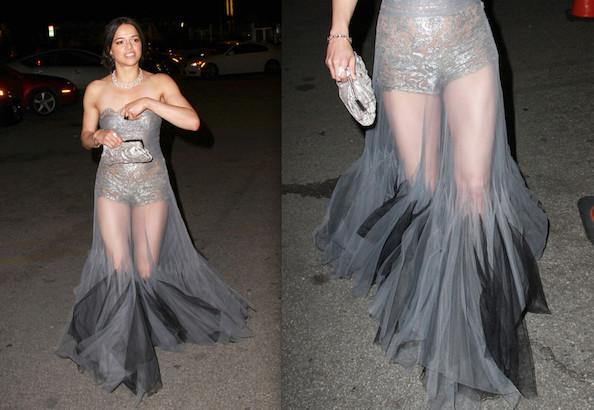 Hot or Not: Michelle Rodriguez's See-Through Gown