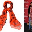 Nicole Richie Steps Out in a McQueen Skull Scarf