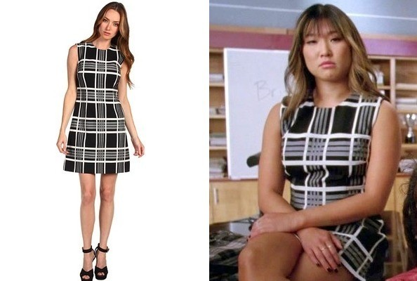 Jenna Ushkowitz's Plaid Dress on 'Glee'
