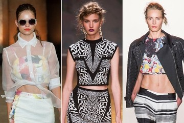 The Best Crop Tops From NYFW Spring 2014