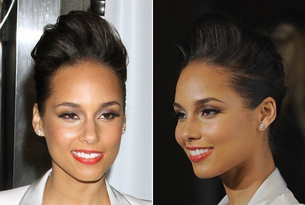 Alicia Keys' Pretty Pompadour