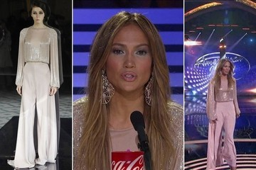 Jennifer Lopez's Blush Outfit on 'American Idol'