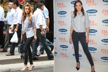 Found: Katie Holmes and Bella Thorne's Button-Up Shirt