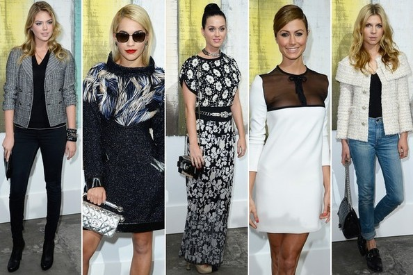 Front Row Celebrity Fashion at Chanel