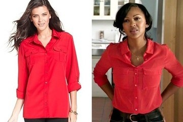 Meagan Good's Utility Blouse on 'Deception'