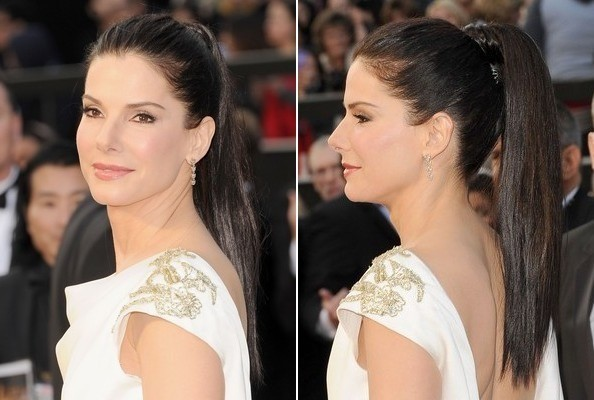 ball hairstyle Sandra Bullock