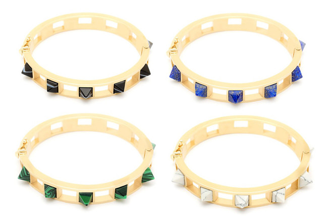 Song of Style Jewelry Pyramid Stud Bracelets, $240 each, at bloomingdales.com