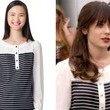 Zooey Deschanel's Striped Blouse on 'New Girl'