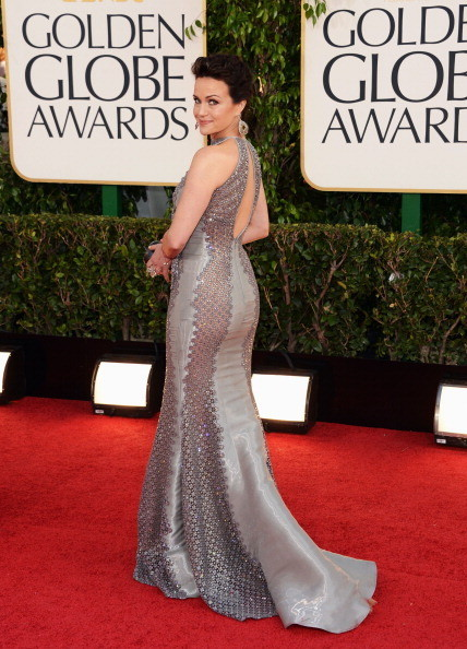 Carla Gugino Wears Rami Al Ali at the 2013 Golden Globes