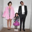 Beyoncé and Jay Z as Barbie and Ken (with Blue Ivy in a custom Barbie jacket)