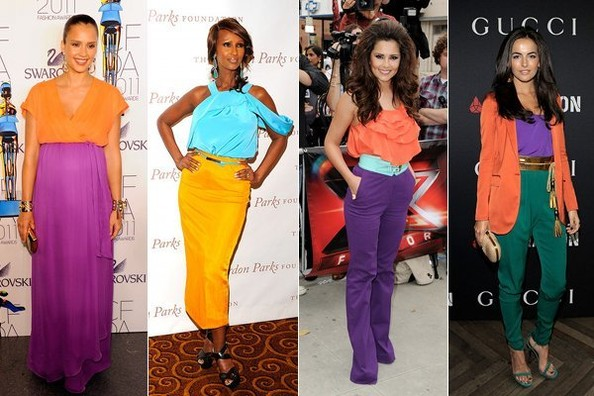Celebs Master the Colorblocking Trend