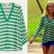 Emily Maynard's Green Striped V-Neck on 'The Bachelorette'