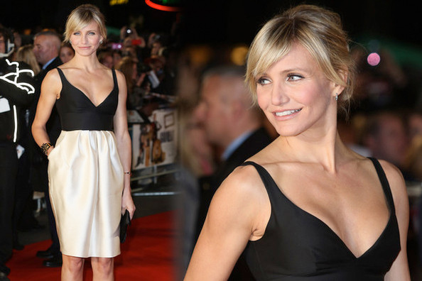 Look of the Day: Cameron Diaz in Black and White