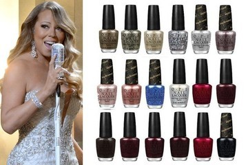A Ranking of OPI x Mariah Carey Holiday Nail Polishes by Glitteriness