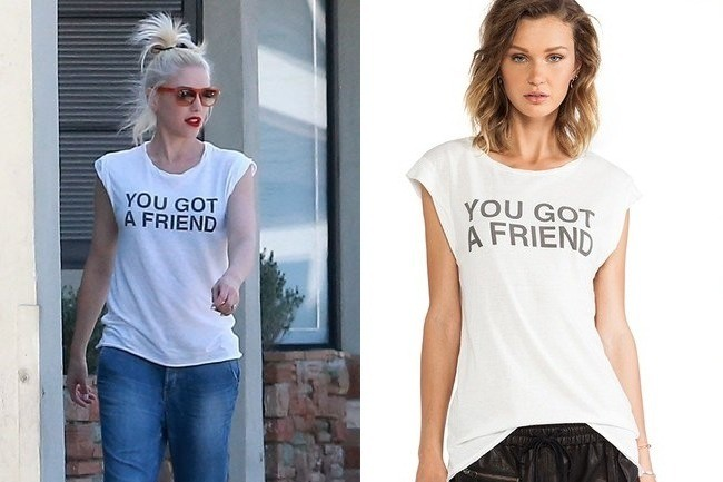 Found: Gwen Stefani's Motto Muscle Tee