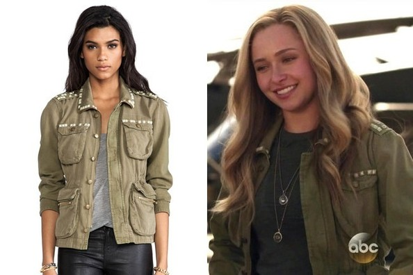 Hayden Panettiere's Cargo Jacket with Studded Embellishment on 'Nashville'