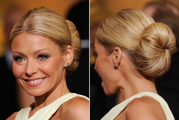 Kelly Ripa S Oversized Classic Bun Do It Yourself How To Get