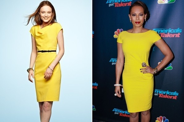 A Yellow Bodycon Like Mel B's on 'America's Got Talent'