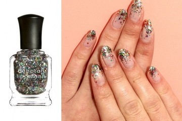This DIY Glittery Manicure is Like a Party for Your Nails