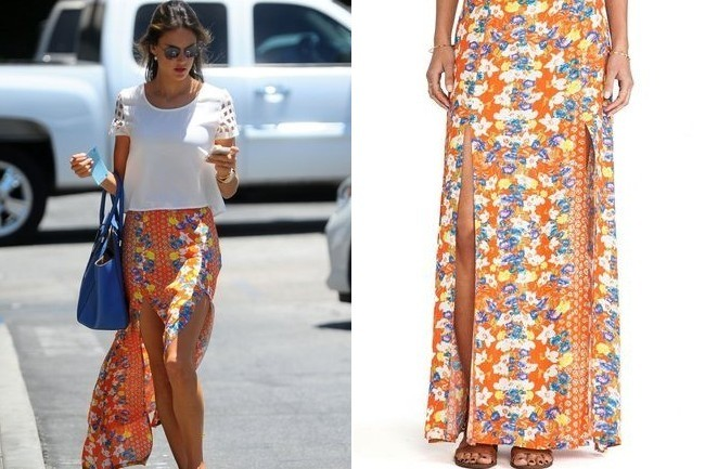 Found: Alessandra Ambrosio's Floral Skirt