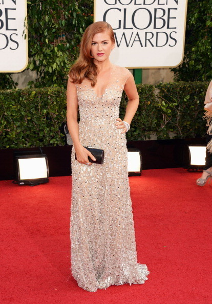 Isla Fisher Wears Reem Acra at the 2013 Golden Globes