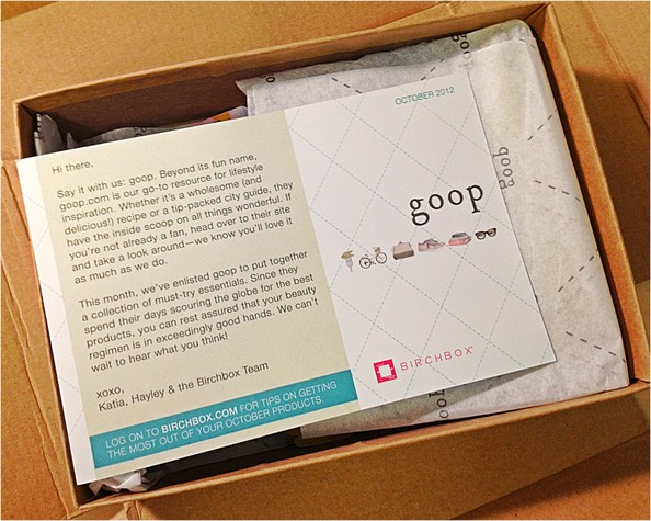 Here's What's in Our Goop Birchbox!