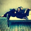 Lily Aldridge and Behati Prinsloo Kick it in Black