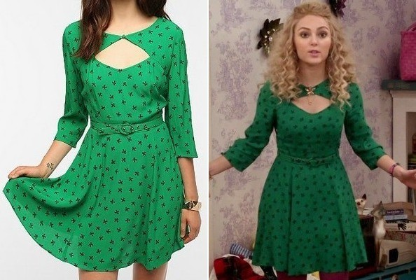 A Green Cutout Dress Like AnnaSophia Robb's on 'The Carrie Diaries'
