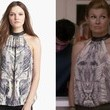 Connie Britton's Patterned Halter Top on 'Nashville'