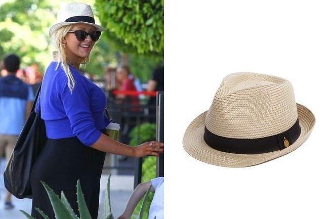 Found: Christina Aguilera's Chic Hat