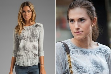 Allison Williams's Leopard-Print T-Shirt on 'Girls'