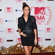 Senna Guemmour's Leg-Baring Mini-skirt at the MTV EMAs