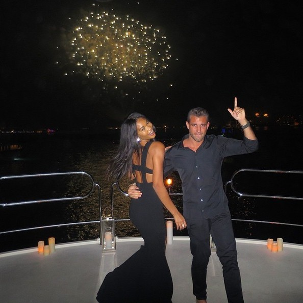 Look of the Day, January 2nd: Chanel Iman's Mermaid Gown
