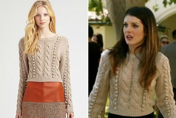 Shenae Grimes' Pom Pom Sweater on '90210'