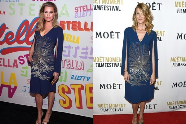 Rebecca Romijn and Laura Dern in Stella McCartney