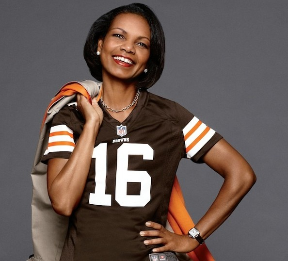 What's Former Secretary of State Condoleezza Rice Doing in an NFL Campaign?