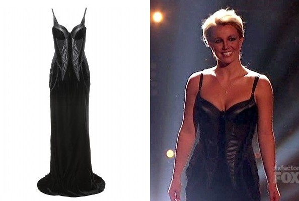 Britney Spears' Bottega Veneta Gown on 'The X Factor'