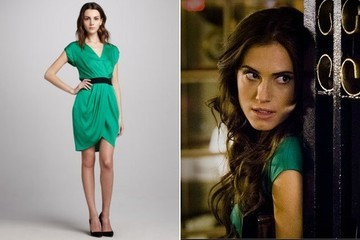 Allison Williams's Green Belted Dress on 'Girls'