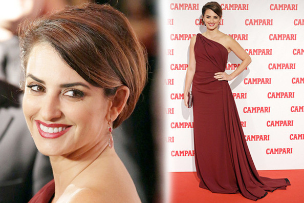 Penelope Cruz's Beautiful Burgundy