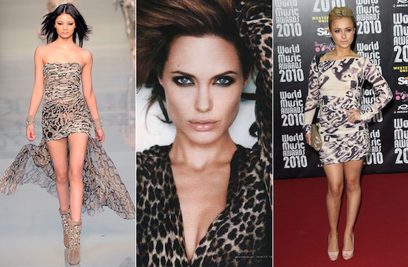 Celebs Purr for Leopard Print this Fall