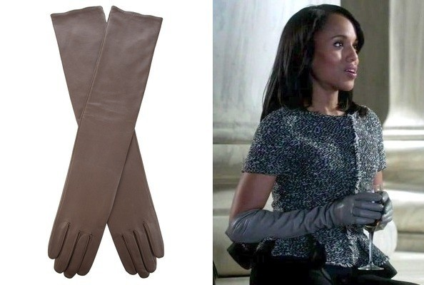 Kerry Washington's Elbow-Length Leather Gloves on 'Scandal'