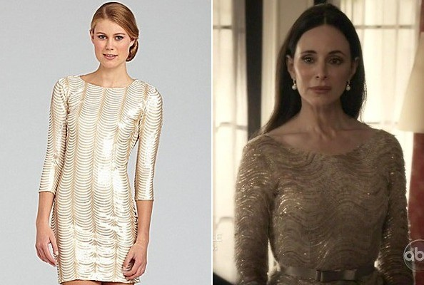 Madeleine Stowe's Gold Dress on 'Revenge'