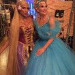 Padma Lakshmi as Rapunzel and Molly Sims as Cinderella