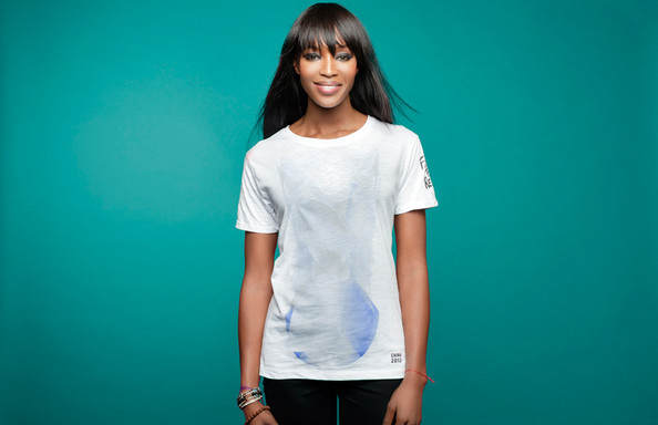 Naomi Campbell & Yoox Team Up To Launch Fashion For Relief T-Shirts, China Edition